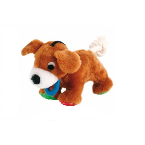 """Игрушка из плюша """"TRIXIE"""" для собаки """"Dog"""", с верёвкой , со звуком, 17см"""