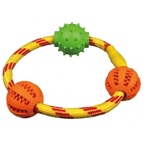 """Игрушка """"TRIXIE"""" для собаки """"DENTAfun"""" в виде кольца с шариками, диам 20см"""