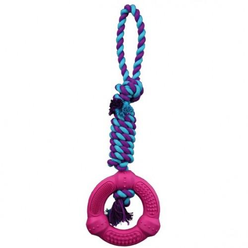 """Игрушка """"TRIXIE"""" для собаки """"DENTAfun"""" в виде веревки с кольцом, диам 12см/41см"""