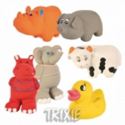 """Набор игрушек из латекса """"TRIXIE"""" для собаки, """"Baby Zoo"""", со звуком 9 см,(24 шт)"""