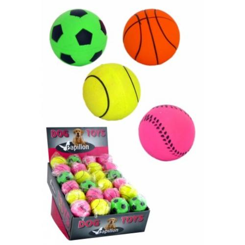 """Игрушка для собак """"Неоновый мяч"""", латекс, диам.6см"""