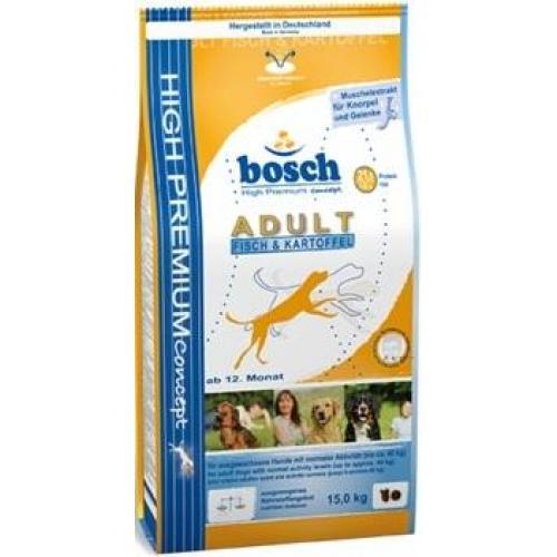 Bosch Adult Fish & Potato(Бош Эдалт Рыба с Картофелем), для взрослых собак со средним уровнем активности - 15 кг.