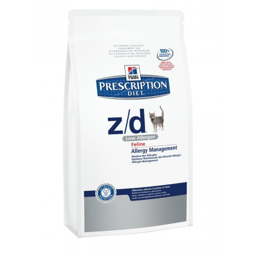 Hills Prescription Diet Feline z/d Low Allergen, пищевая аллергия