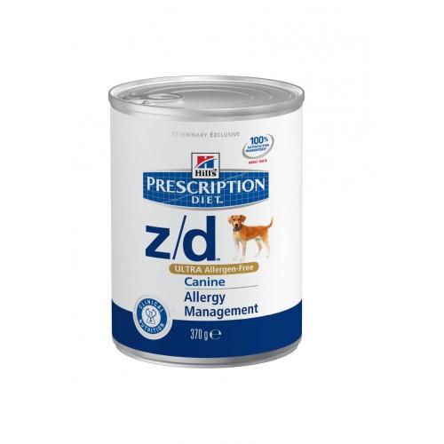 Hills Prescription Diet™ Canine z/d™ ULTRA Allergen-Free, для собак при пищевой аллергии 370г (заказ кратный 6бан)