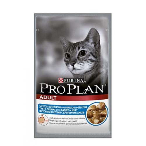 Purina Pro Plan Влажный корм для взрослых кошек (Кролик)