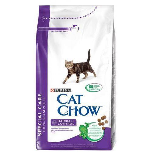 Purina Cat Chow, Кэт Чау для кошек для контроля образования комков шерсти - 15 кг.