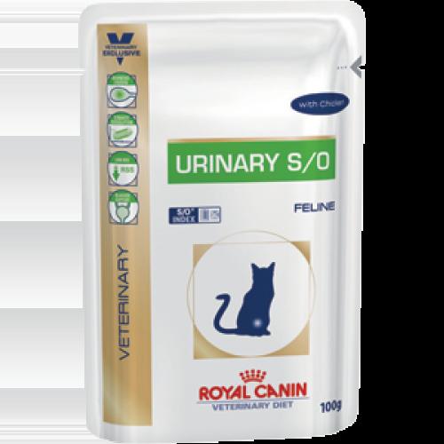 Royal Canin Urinary S/O, диета для кошек при заболеваниях нижних мочевыводящих путей — 100 гр.