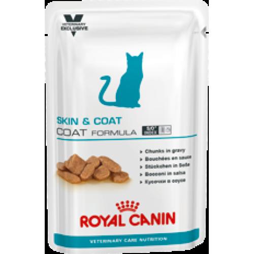 Royal Canin Skin & Coat Formula, для кастрированных/стерилизованных котов и кошек с повышенной чувствительностью кожи — 100 гр.