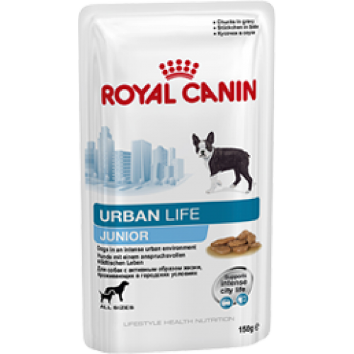 Royal Canin Urban Life Junior Wet, для щенков мелких и крупных размеров, живущих в городских условиях - 150 гр.