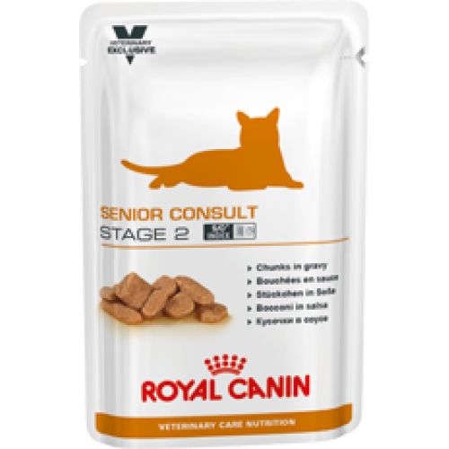 Royal Canin Senior Consult Stage 2, для котов и кошек старше 7 лет, имеющих видимые признаки старения — 100 гр.