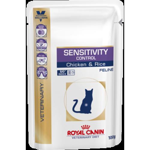 Royal Canin Sensitivity Control(Курица), диета для кошек при пищевой аллергии, непереносимости — 100 гр.
