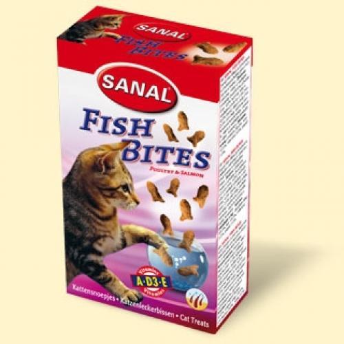 Санал для кошек, подушечки рыбные, 75 грамм