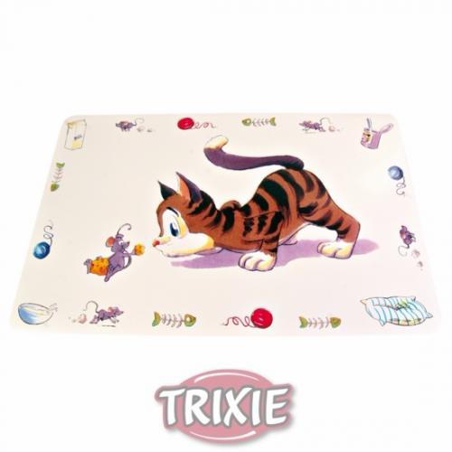 """Коврик """"TRIXIE"""" под миску для еды """"Comic Cat"""", 44x28см"""