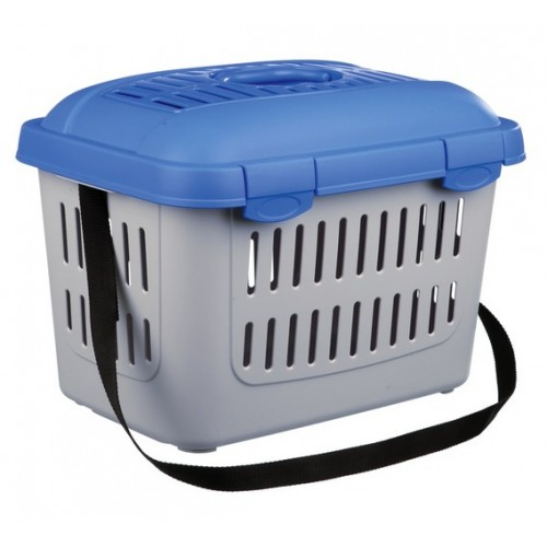 "Переноска ""TRIXIE"" Traveller Midi-Capri для мелких животных до 5кг, 45x33x32см, серая/синяя"