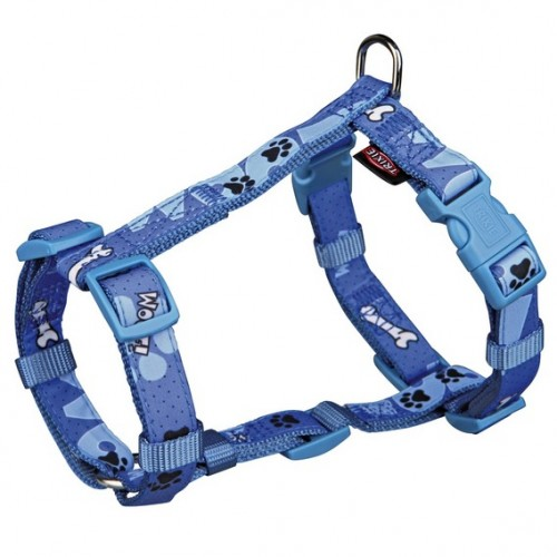 "Шлея ""TRIXIE"" для собак""Modern Art H-Harness Woof"", (ХS-S) 30-40 см/15мм"