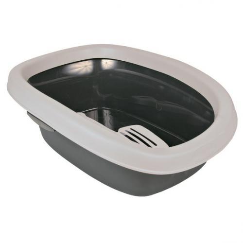"Туалет ""TRIXIE"" для кошек ""Carlo 2"", с высоким бортом, 38х17х58см, серый/светлосерый"
