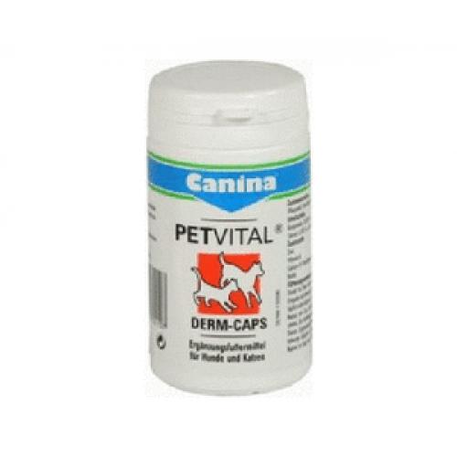 Canina PETVITAL® Derm-Caps(Петвитал Дерм Капс), капсулы для собак и кошек, восстановления здоровья кожи и шерсти